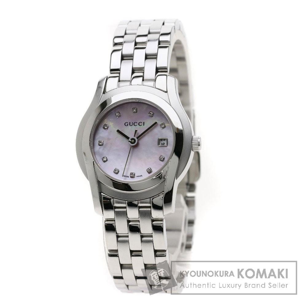 GUCCI 5500L 11Pダイヤモンド 腕時計 SS レディース 【中古】【グッチ】