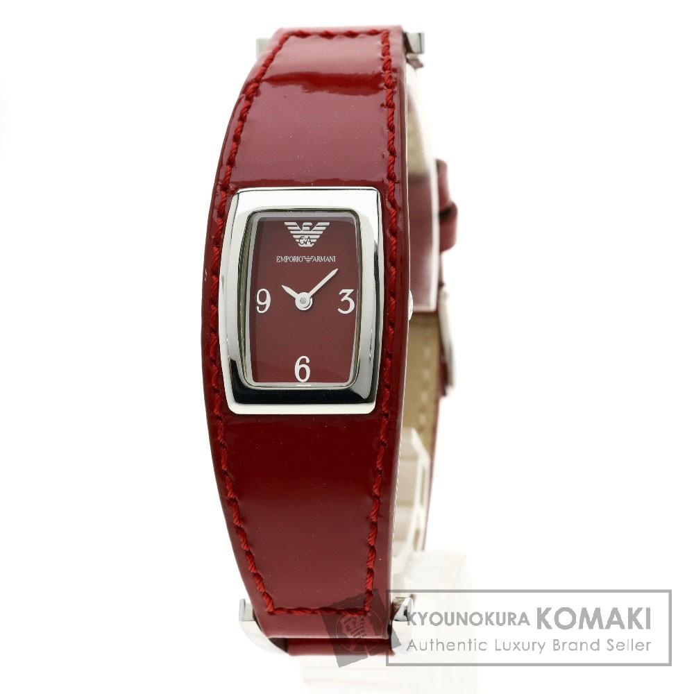 Emporio Armani AR-5532 腕時計 SS/パテントレザー レディース 【中古】【エンポリオ・アルマーニ】
