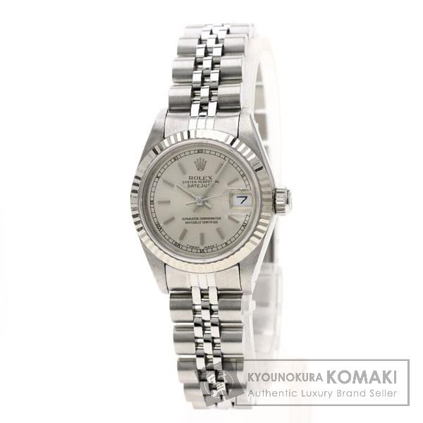 ROLEX 69174 デイトジャスト 腕時計 OH済 ホワイトゴールド/SS レディース 【中古】【ロレックス】