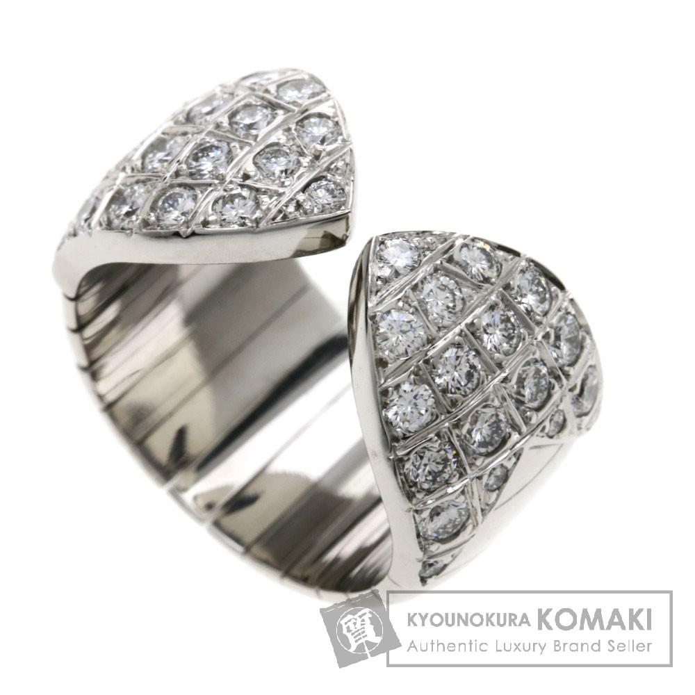 Chaumet プリュム ダイヤモンド リング・指輪 K18WG レディース 【中古】【ショーメ】