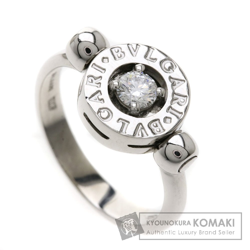 BVLGARI ブルガリブルガリ フリップ ダイヤモンド リング・指輪 K18WG レディース 【中古】【ブルガリ】