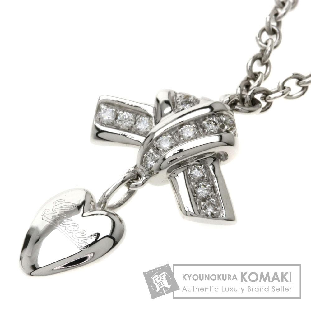 GUCCI ダイヤモンド ネックレス K18WG レディース 【中古】【グッチ】