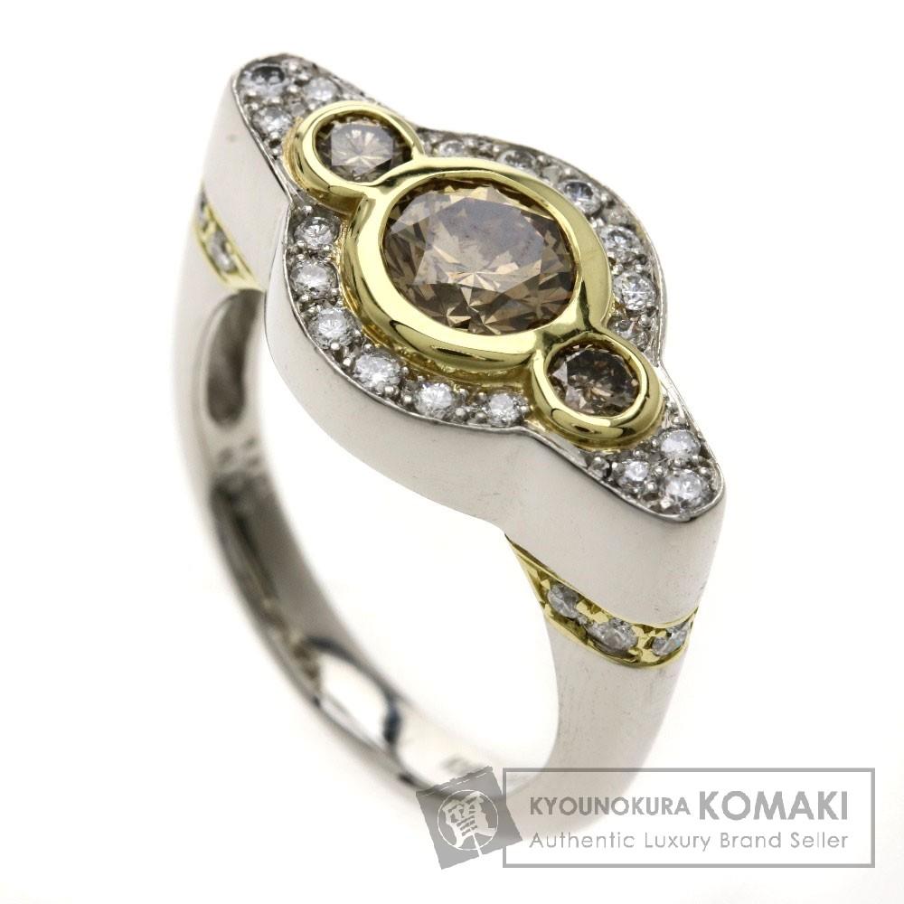 1.144ct ダイヤモンド リング・指輪 Pt900/K18YG 10.41g レディース 【中古】
