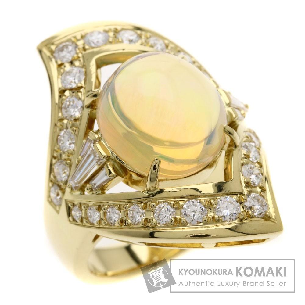 7.369ct オパール/ダイヤモンド リング・指輪 K18YG 13.2g レディース 【中古】