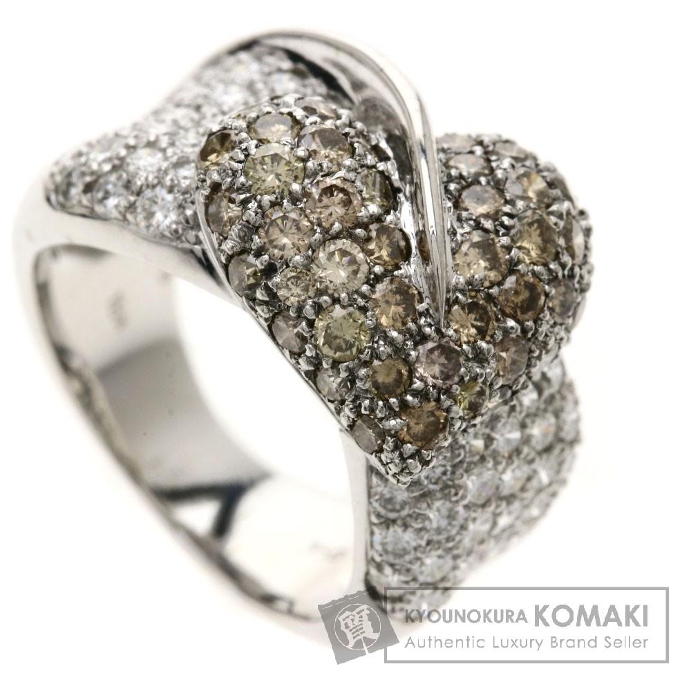 2.36ct ダイヤモンド リング・指輪 K18WG 10.6g レディース 【中古】