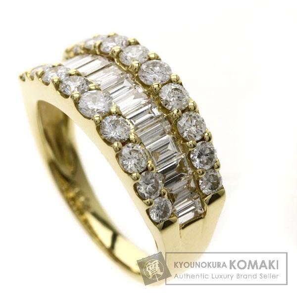2ct ダイヤモンド リング・指輪 K18YG 5.2g レディース 【中古】