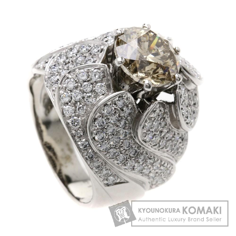 3.409ct ダイヤモンド リング・指輪 K18WG 16.7g レディース 【中古】