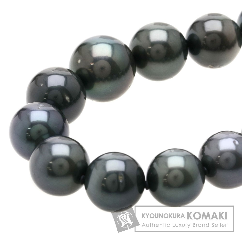 ブラックパール/真珠 ネックレス シルバー 90.7g レディース 【中古】