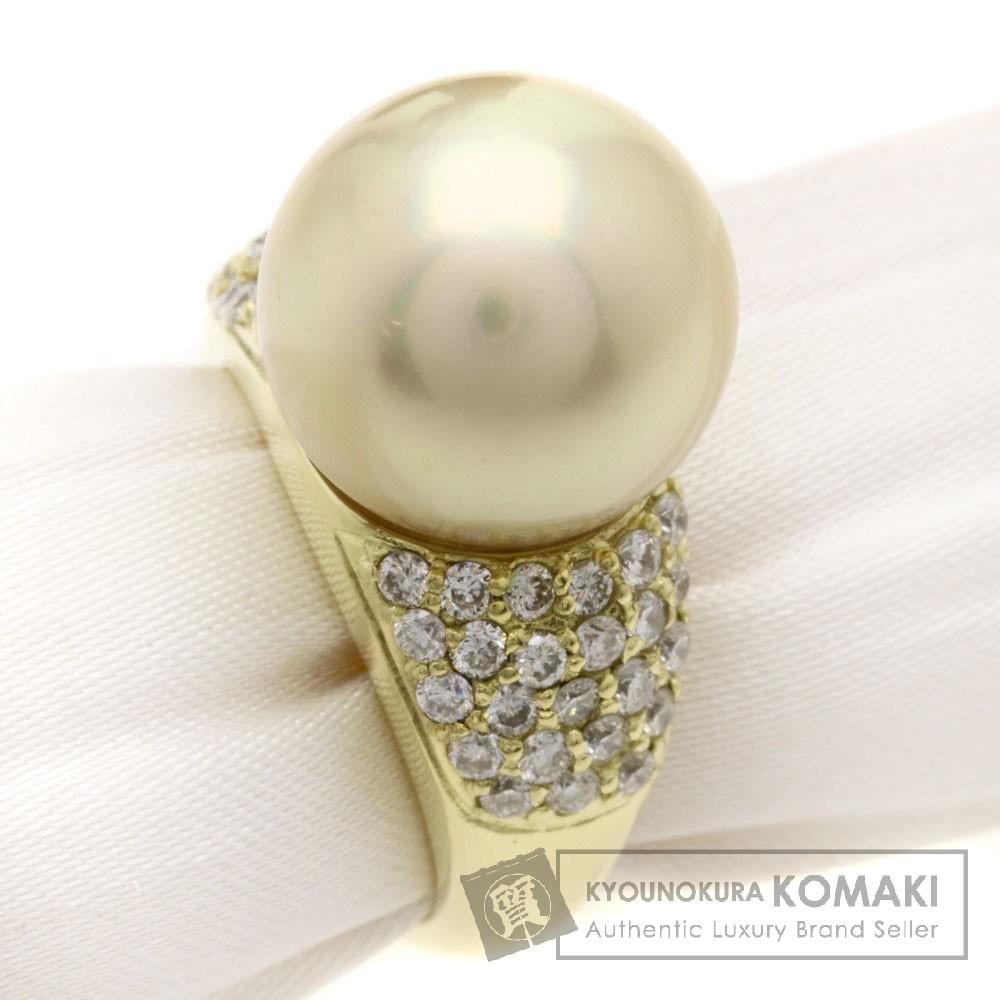 パール/真珠/ダイヤモンド リング・指輪 K18YG 13.5g レディース 【中古】
