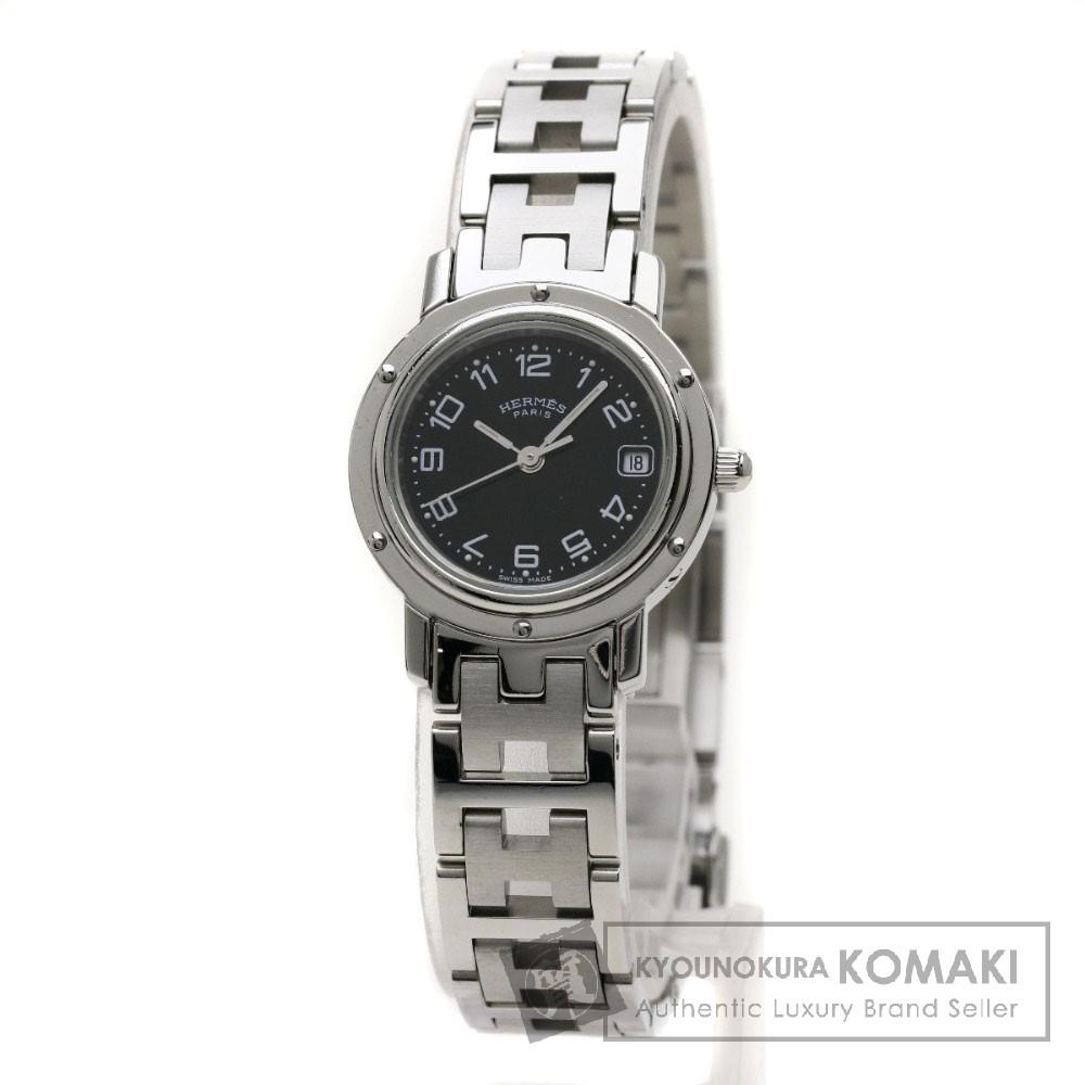 HERMES CL4.210 クリッパー 腕時計 ステンレス レディース 【中古】【エルメス】