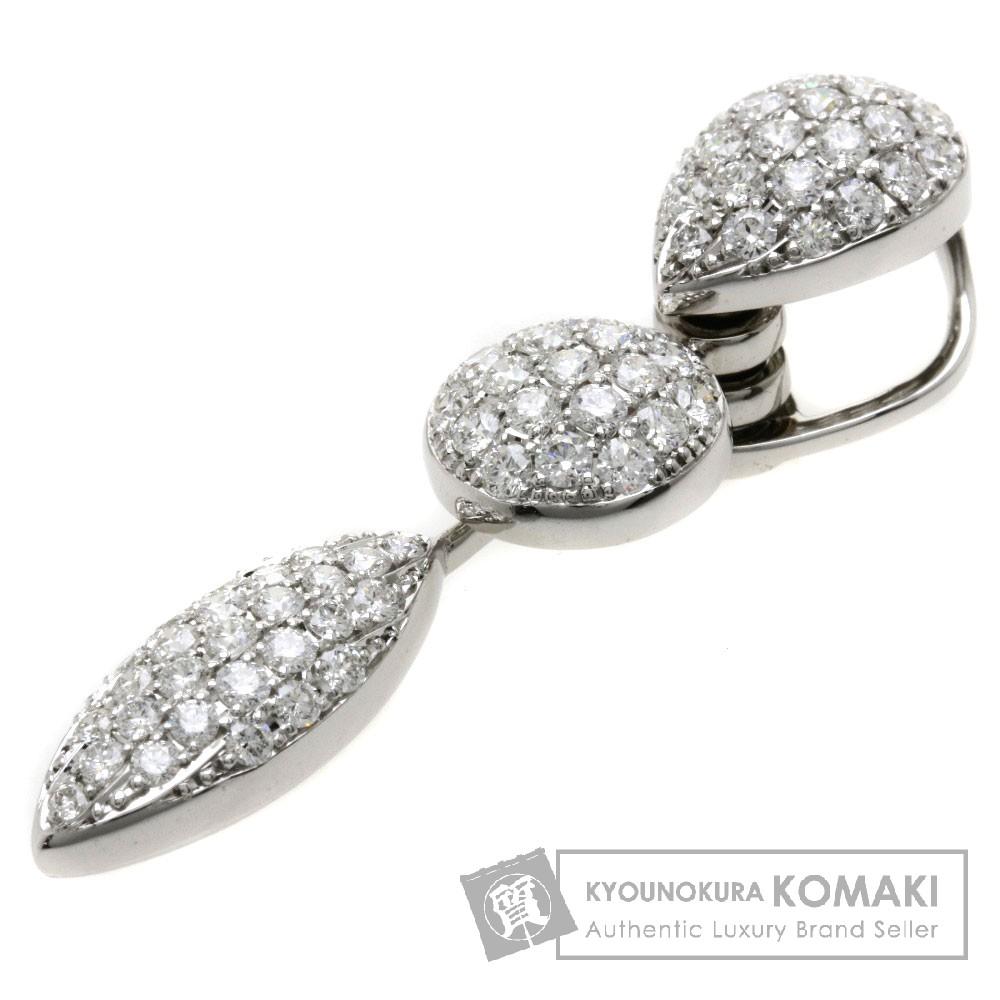 1.65ct ダイヤモンド ペンダント K18ホワイトゴールド 6.7g レディース 【中古】