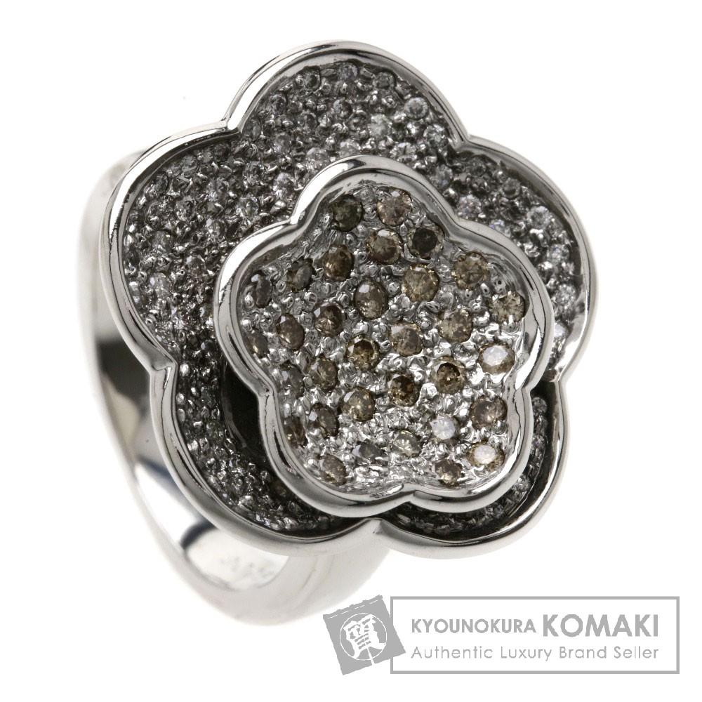 0.95ct ダイヤモンド リング・指輪 K18WG 13.8g レディース 【中古】