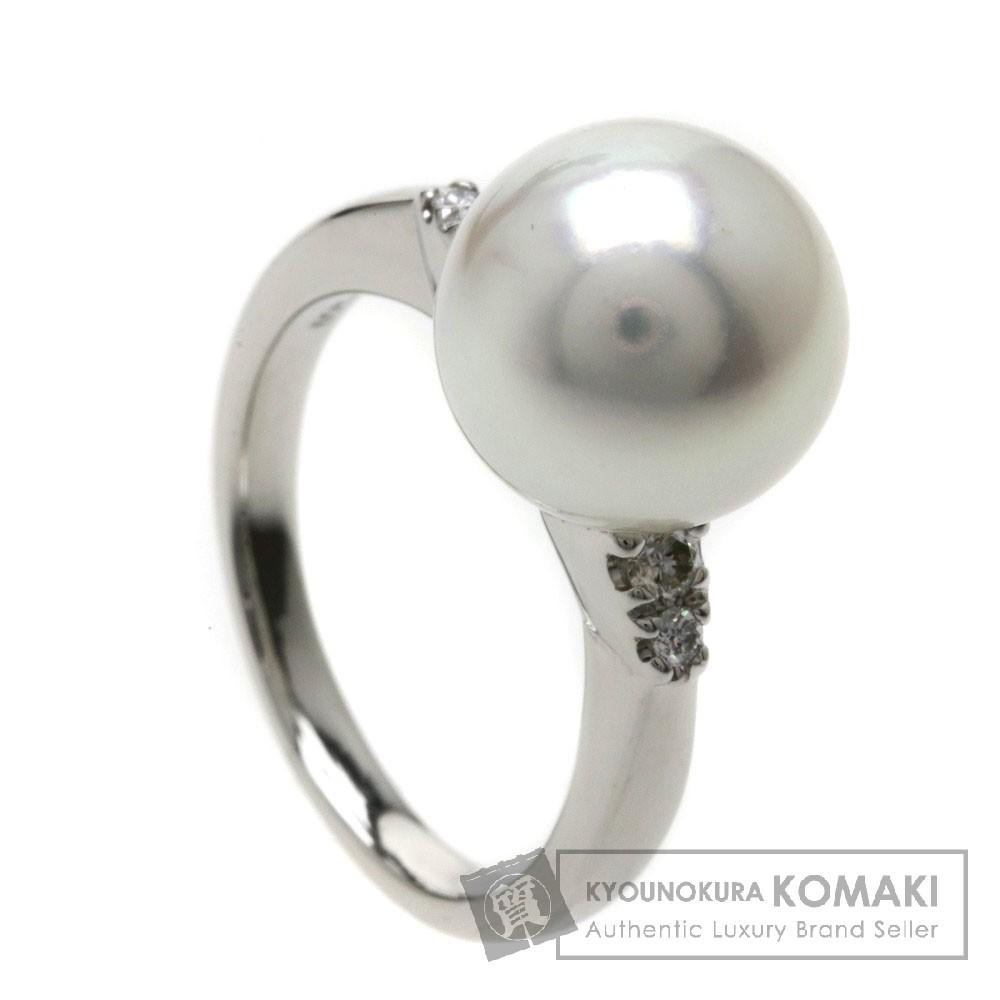 0.21ct パール/真珠/ダイヤモンド リング・指輪 Pt950 8.7g レディース 【中古】