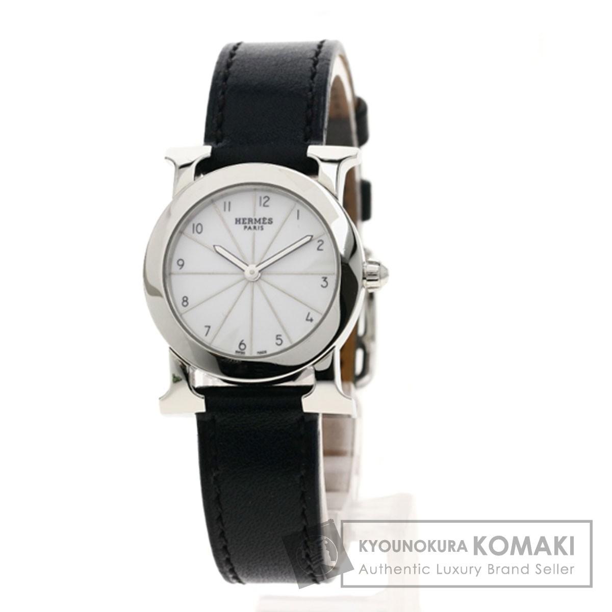HERMES HR1.210 ロンド 腕時計 SS/革 レディース 【中古】【エルメス】