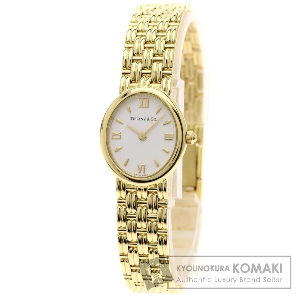 TIFFANY&Co. オーバルフェイス 腕時計 K18YG レディース 【中古】【ティファニー】