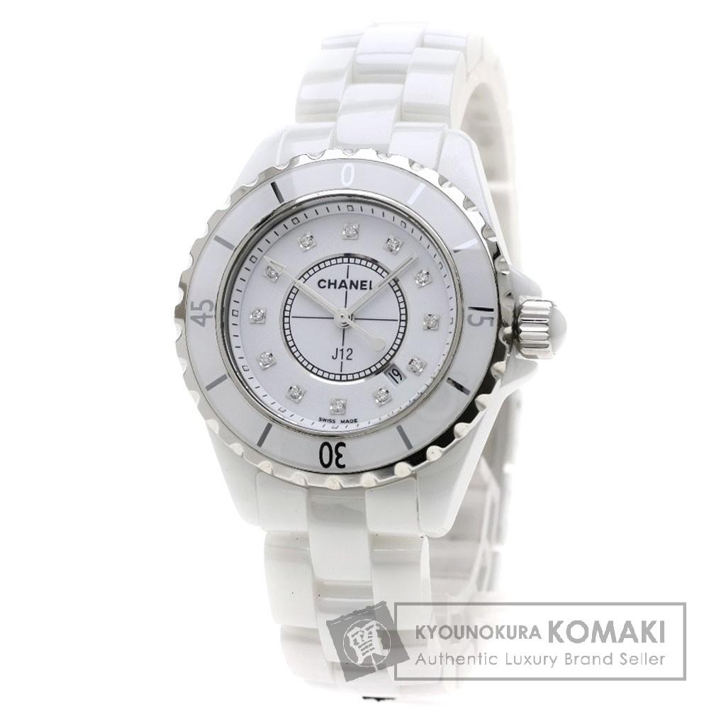 CHANEL H1628 J12 33 12Pダイヤモンド 腕時計 セラミック レディース 【中古】【シャネル】
