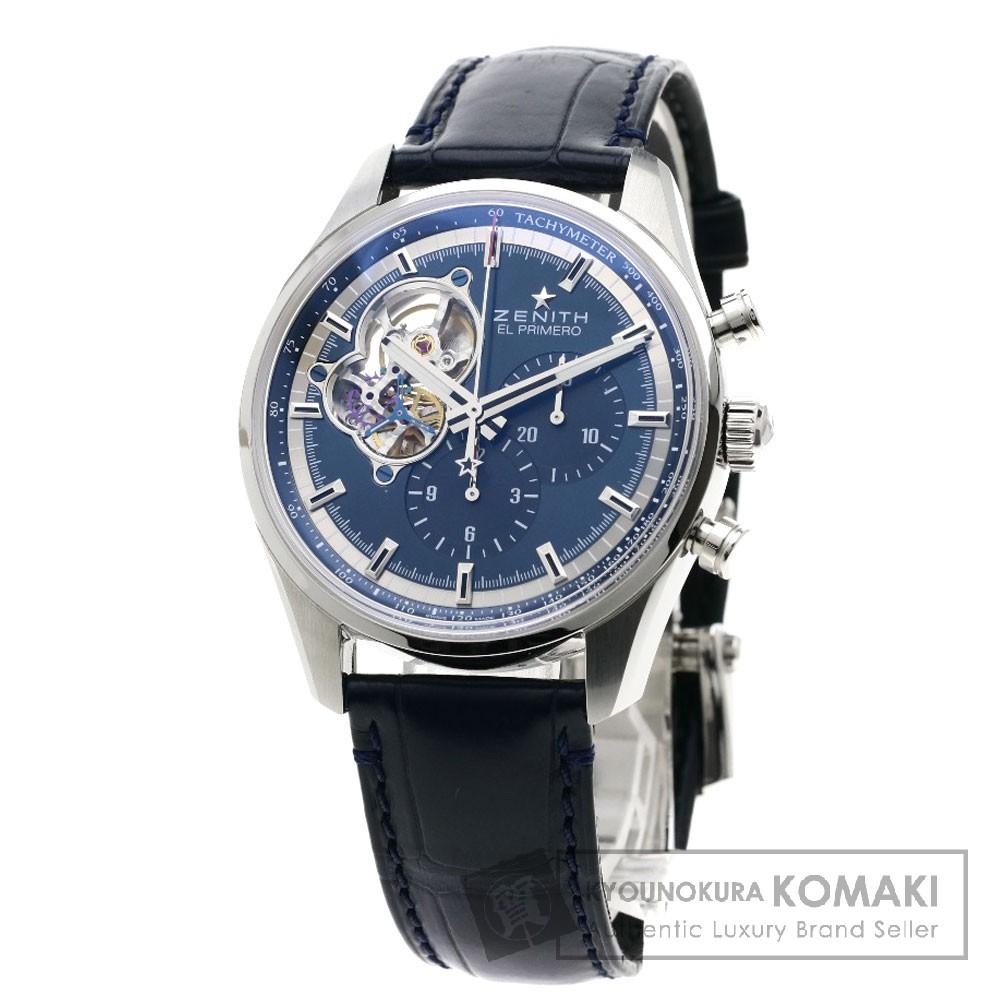 ZENITH 03.20416.4061 エルプリメロ クロノマスター 腕時計 SS/革 メンズ 【中古】【ゼニス】