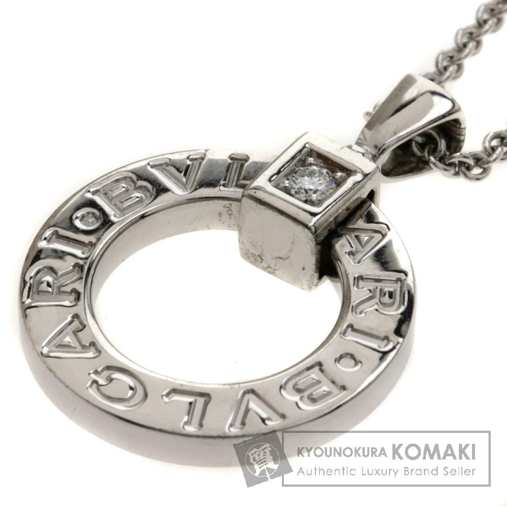 BVLGARI ブルガリブルガリ ダイヤモンド ネックレス K18WG レディース 【中古】【ブルガリ】