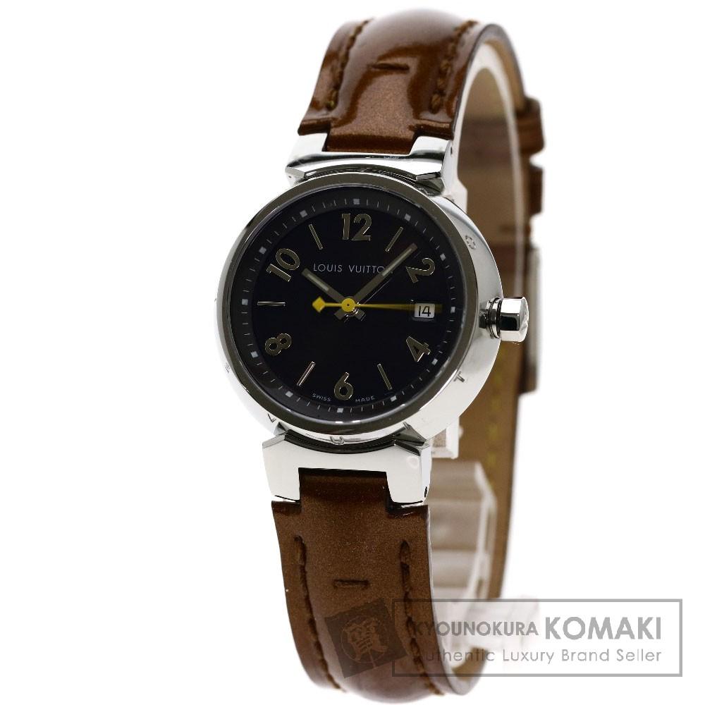 LOUIS VUITTON Q1211 タンブール 腕時計 SS/革 レディース 【中古】【ルイ・ヴィトン】