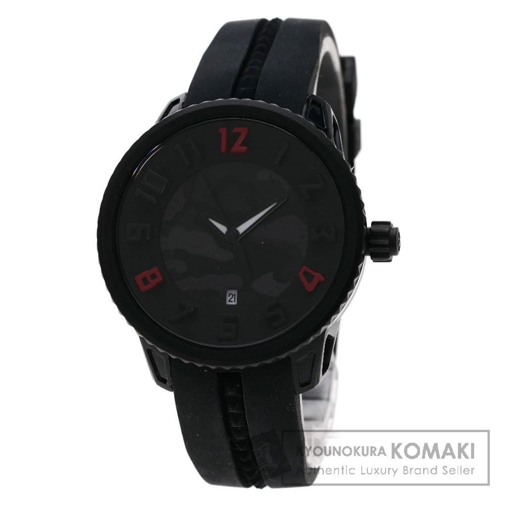 Tendence T0930025 ミディアムガリバー グレー カモフラージュ 腕時計 SS/ラバー メンズ 【中古】【テンデンス】