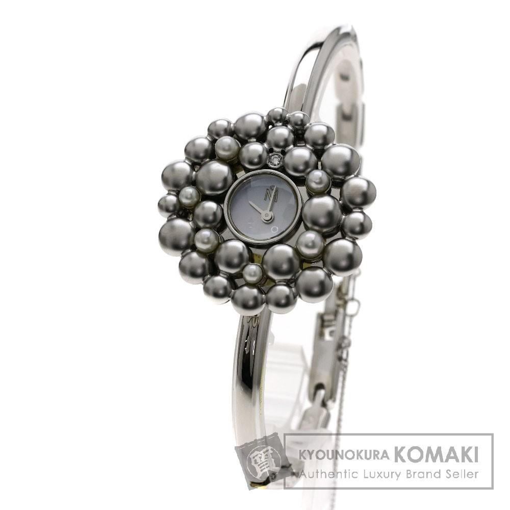 MIKIMOTO パール/ダイヤモンド 腕時計 SS レディース 【中古】【ミキモト】