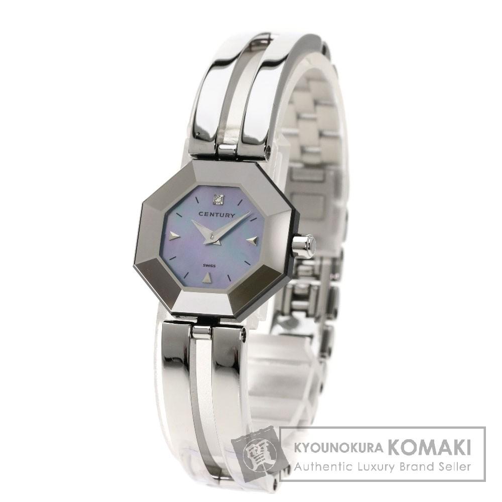 CENTURY タイムジェム 1Pダイヤモンド 腕時計 SS レディース 【中古】【センチュリー】
