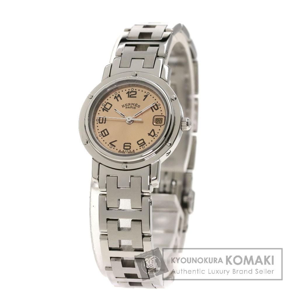 HERMES CL4.210 クリッパー 腕時計 SS/SS レディース 【中古】【エルメス】