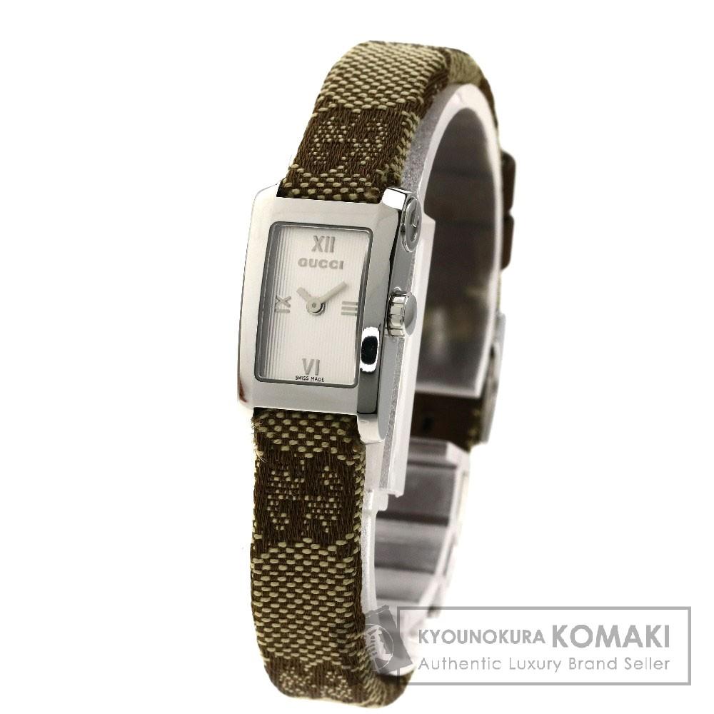 GUCCI 8600L 腕時計 SS/キャンバス レディース 【中古】【グッチ】