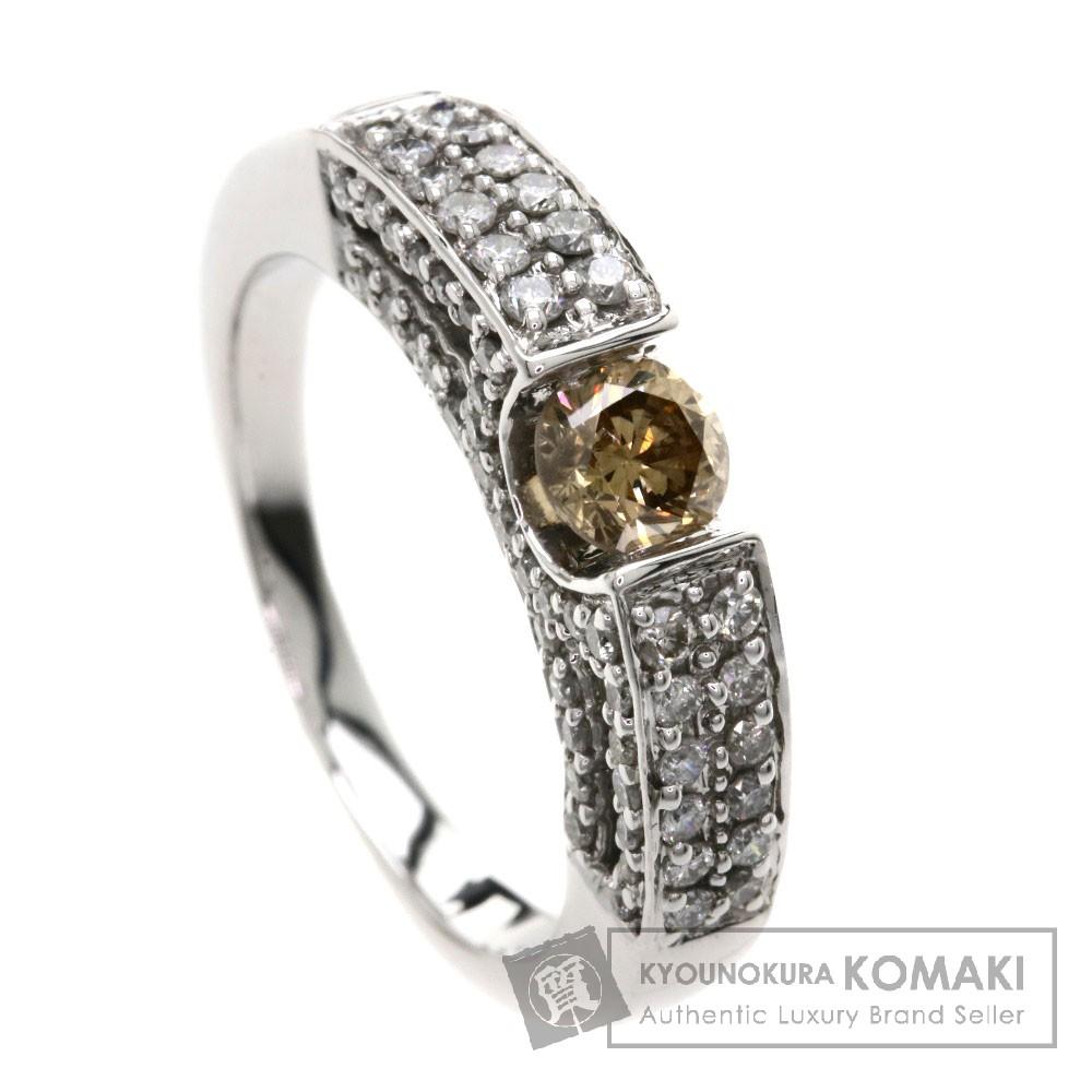 1ct ダイヤモンド リング・指輪 K18WG 4.8g レディース 【中古】