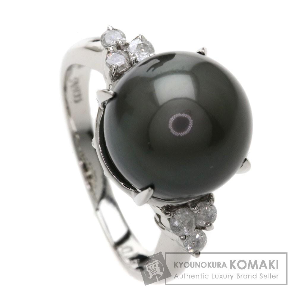 0.19ct パール/真珠/ダイヤモンド リング・指輪 Pt900 6.3g レディース 【中古】