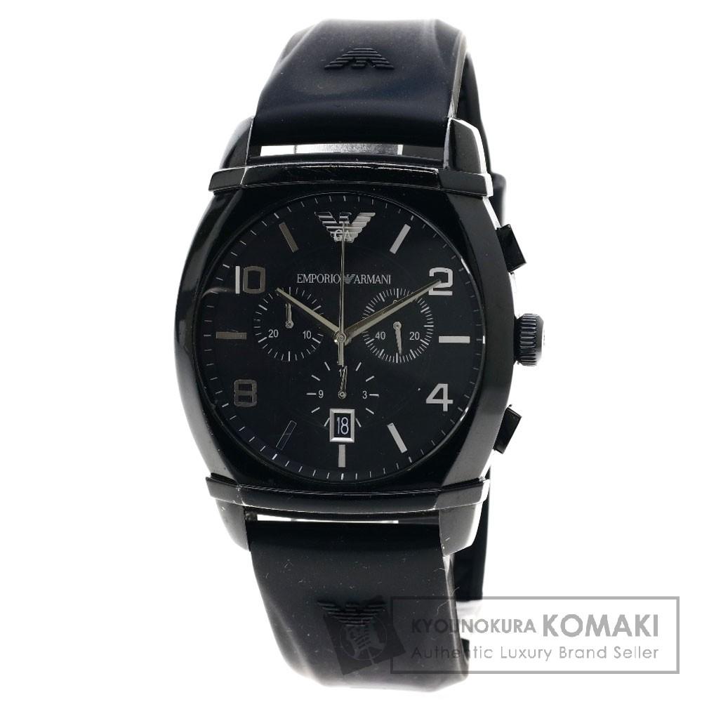 Emporio Armani AR-0349 腕時計 SS/ラバー メンズ 【中古】【エンポリオ・アルマーニ】