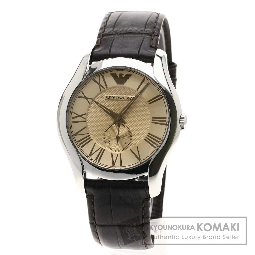 Emporio Armani AR-1704 腕時計 SS/革 メンズ 【中古】【エンポリオ・アルマーニ】
