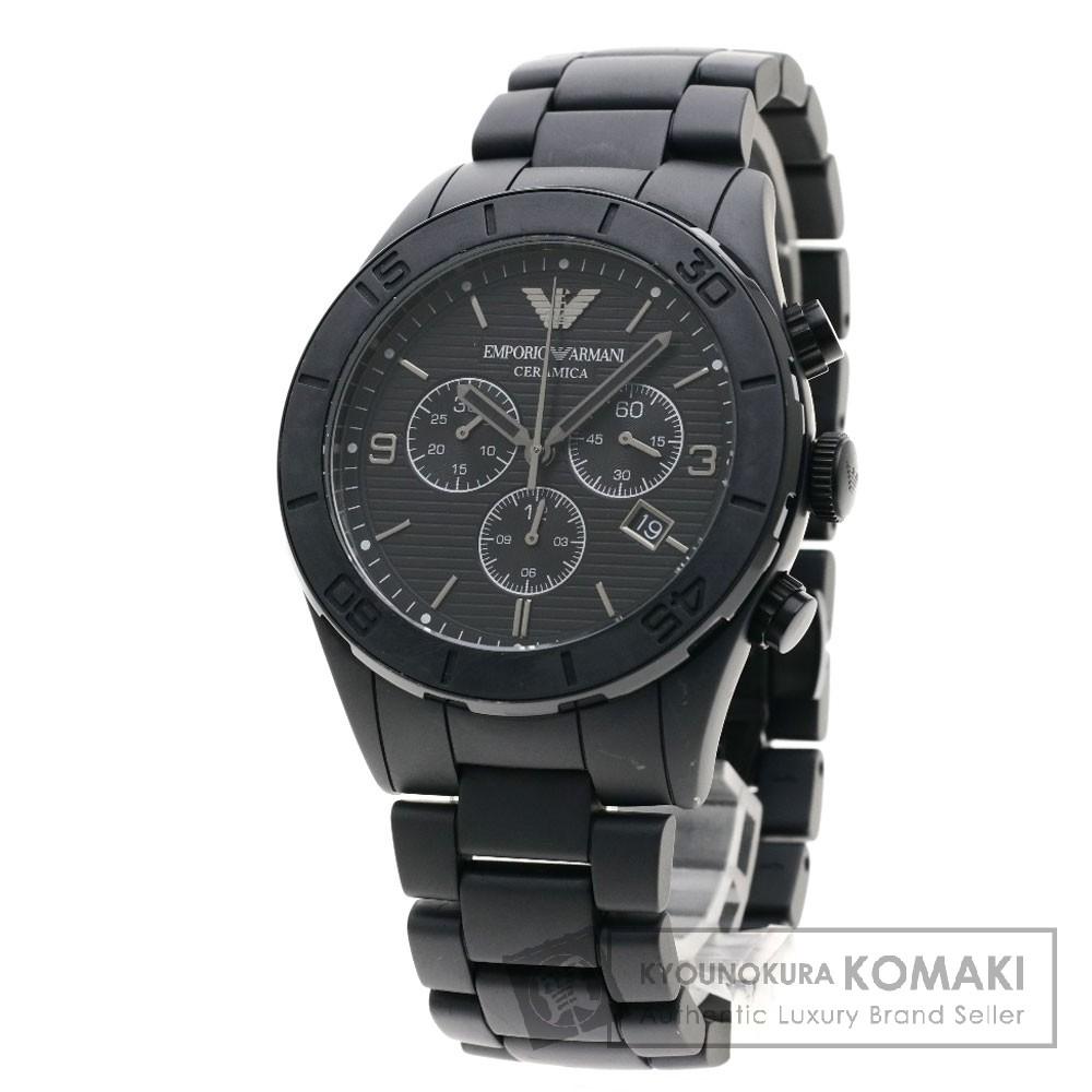 Emporio Armani AR-1458 セラミカ 腕時計 セラミック/セラミック メンズ 【中古】【エンポリオ・アルマーニ】
