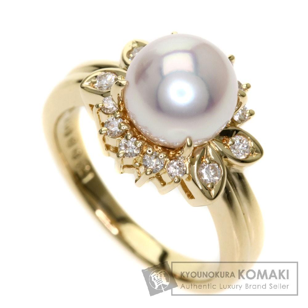POLA パール/真珠/ダイヤモンド リング・指輪 K18WG レディース 【中古】【ポーラ】