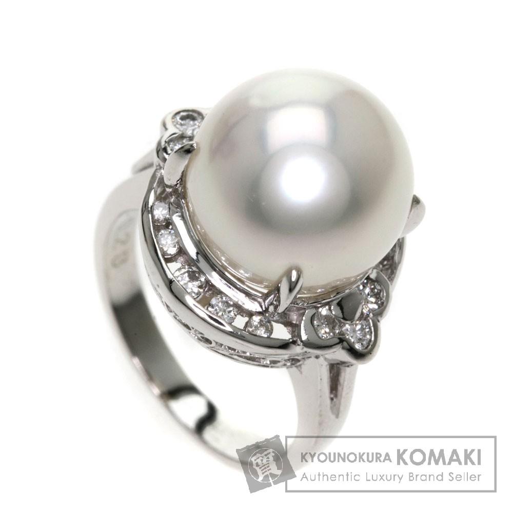 0.28ct 南洋パール/真珠/ダイヤモンド リング・指輪 Pt900 8.9g レディース 【中古】