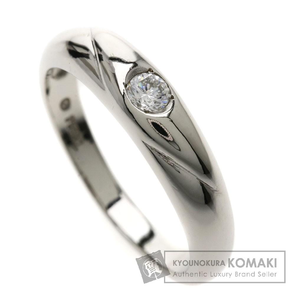 0.1ct ダイヤモンド リング・指輪 Pt900 5.1g レディース 【中古】