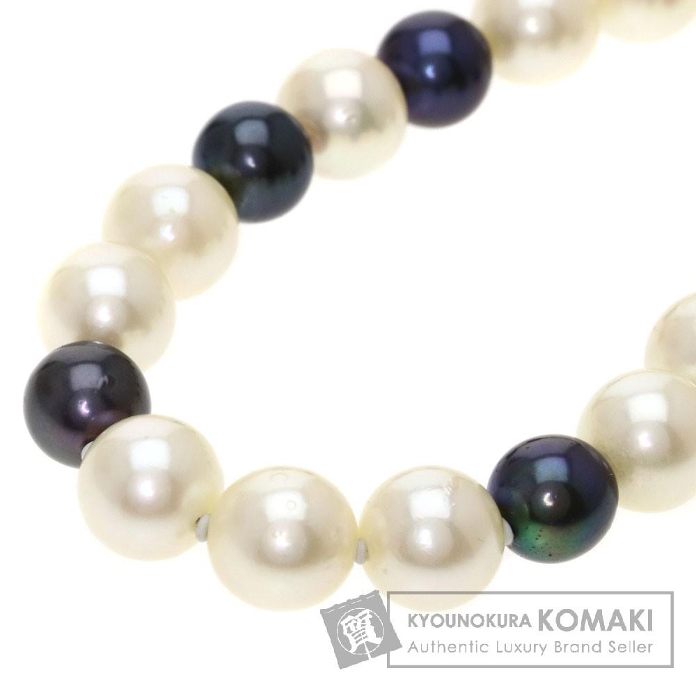 パール/真珠/ダイヤモンド ネックレス K14WG 63.7g レディース 【中古】