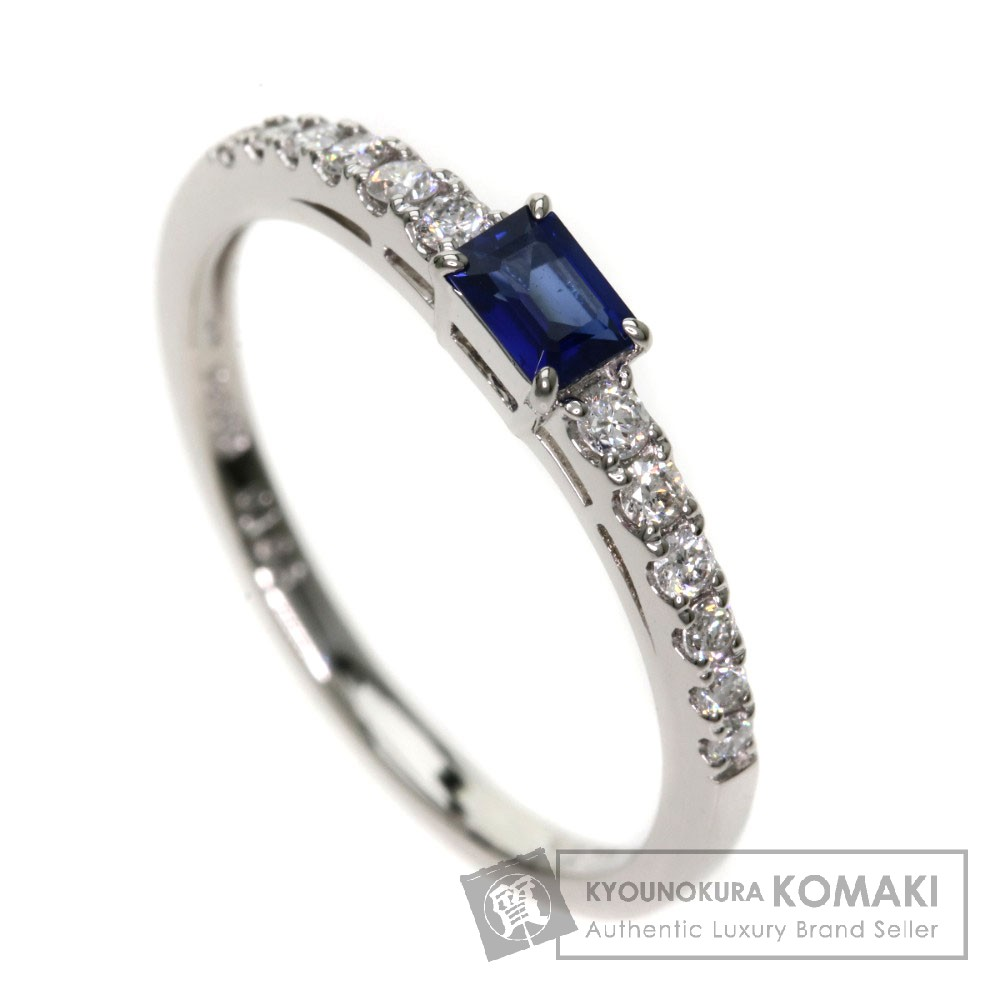 0.196ct ブルーサファイア/ダイアモンド リング・指輪 Pt900 2.6g レディース 【中古】