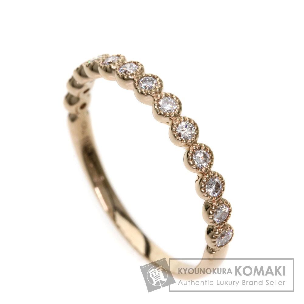 0.26ct ダイヤモンド リング・指輪 K18PG 1.5g レディース 【中古】
