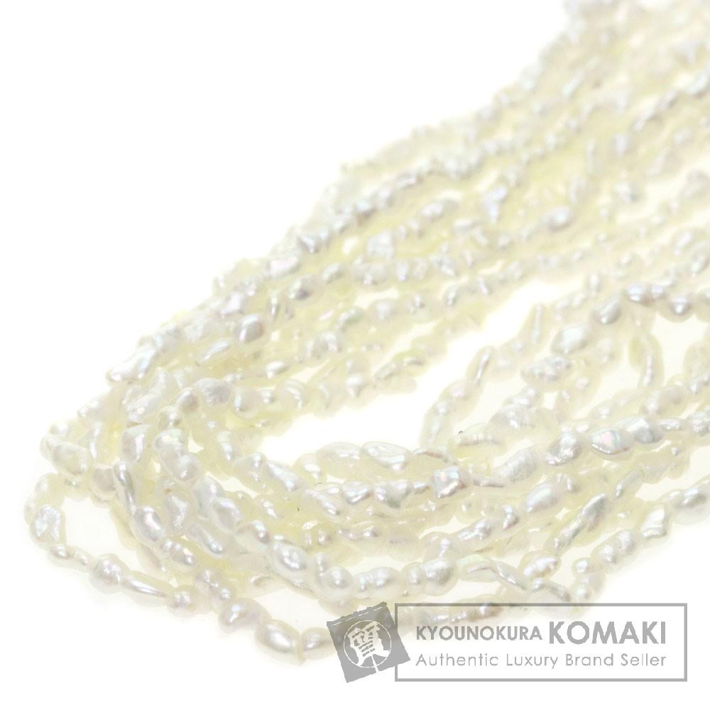 ケシパール/真珠/ルビー/10連 ネックレス SV 35.6g レディース 【中古】