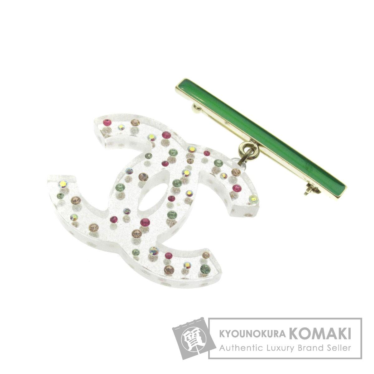 CHANEL ココマーク ラインストーン ブローチ プラスチック レディース 【中古】【シャネル】