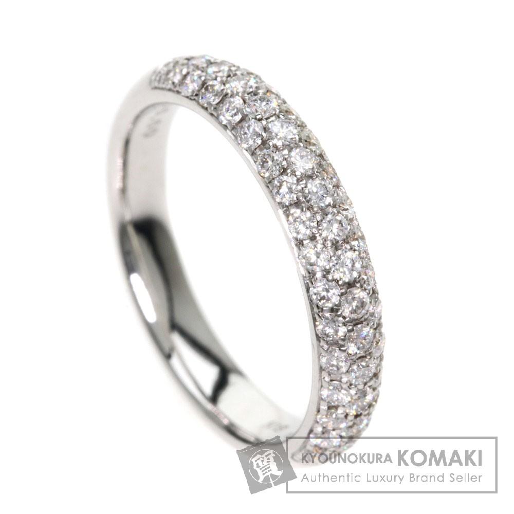 0.6ct ダイヤモンド リング・指輪 K18WG 4.3g レディース 【中古】