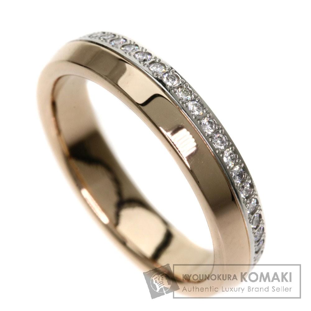 0.3ct ダイヤモンド リング・指輪 K18PG/PT950 4.3g レディース 【中古】