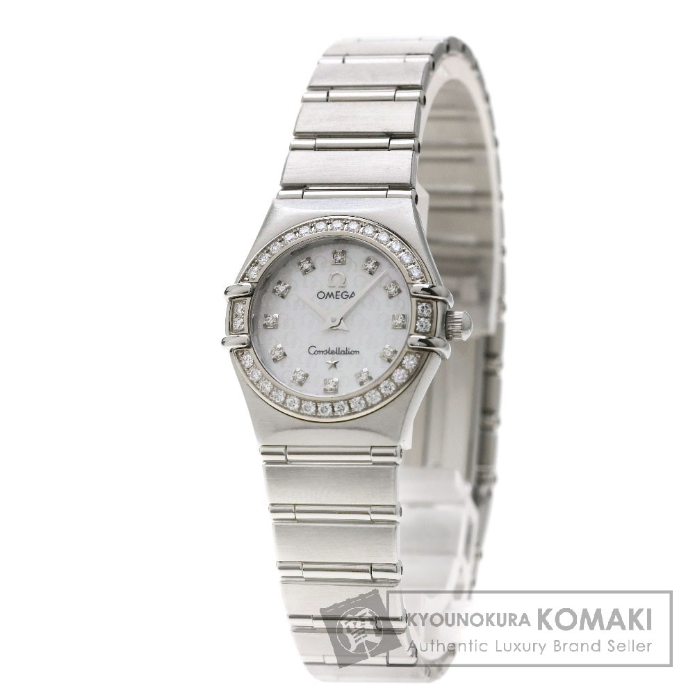 OMEGA 1460-75 コンステレーション ミニ 12Pダイヤモンド 腕時計 OH済 SS/ダイヤモンド レディース 【中古】【オメガ】