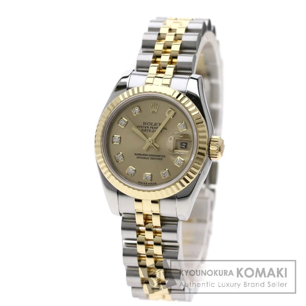 ROLEX 179173G デイトジャスト 10Pダイヤモンド 腕時計 SS/SSxK18YG レディース 【中古】【ロレックス】