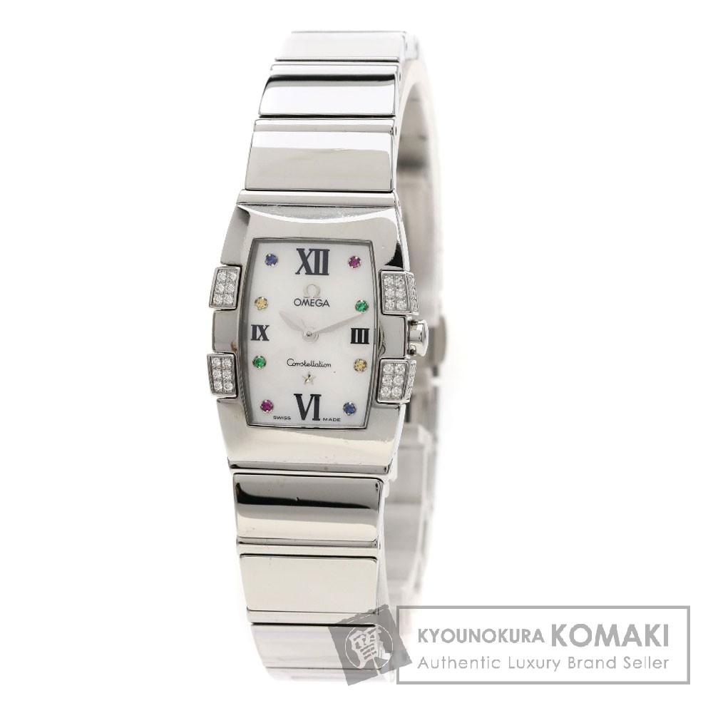OMEGA Ref.1589-79 コンステレーション ミニ クアドレラ/アイリス/ダイヤモンド 腕時計 SS/SS レディース 【中古】【オメガ】