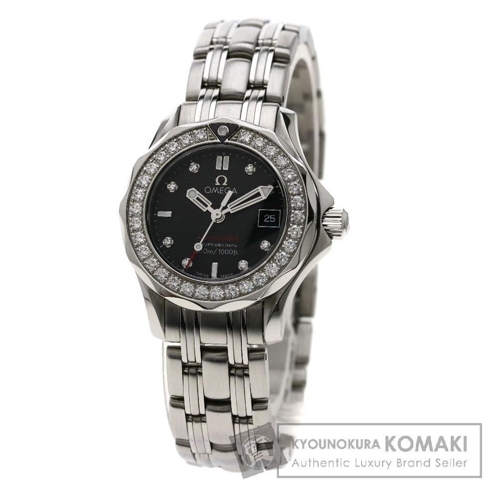 OMEGA 212.15.28.61.51.001 シーマスター 300M 腕時計 SS/ダイヤモンド レディース 【中古】【オメガ】
