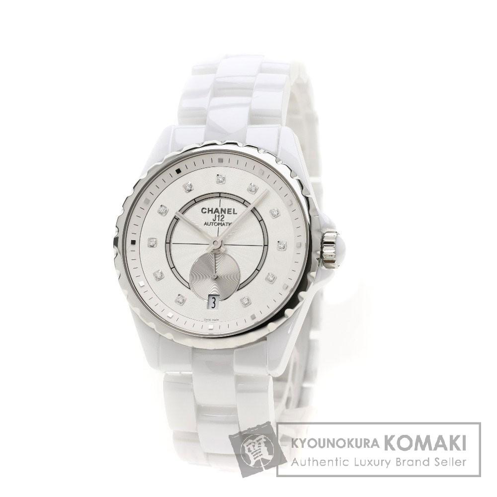 CHANEL H4345 J12-365 11Pダイヤモンド 腕時計 セラミック/セラミック メンズ 【中古】【シャネル】
