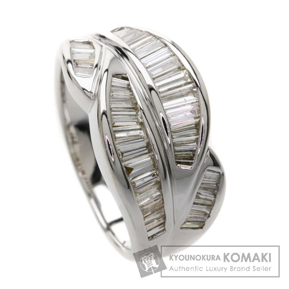 FD1.37ct メレダイヤモンド リング・指輪 K18ホワイトゴールド 10.1g レディース 【中古】