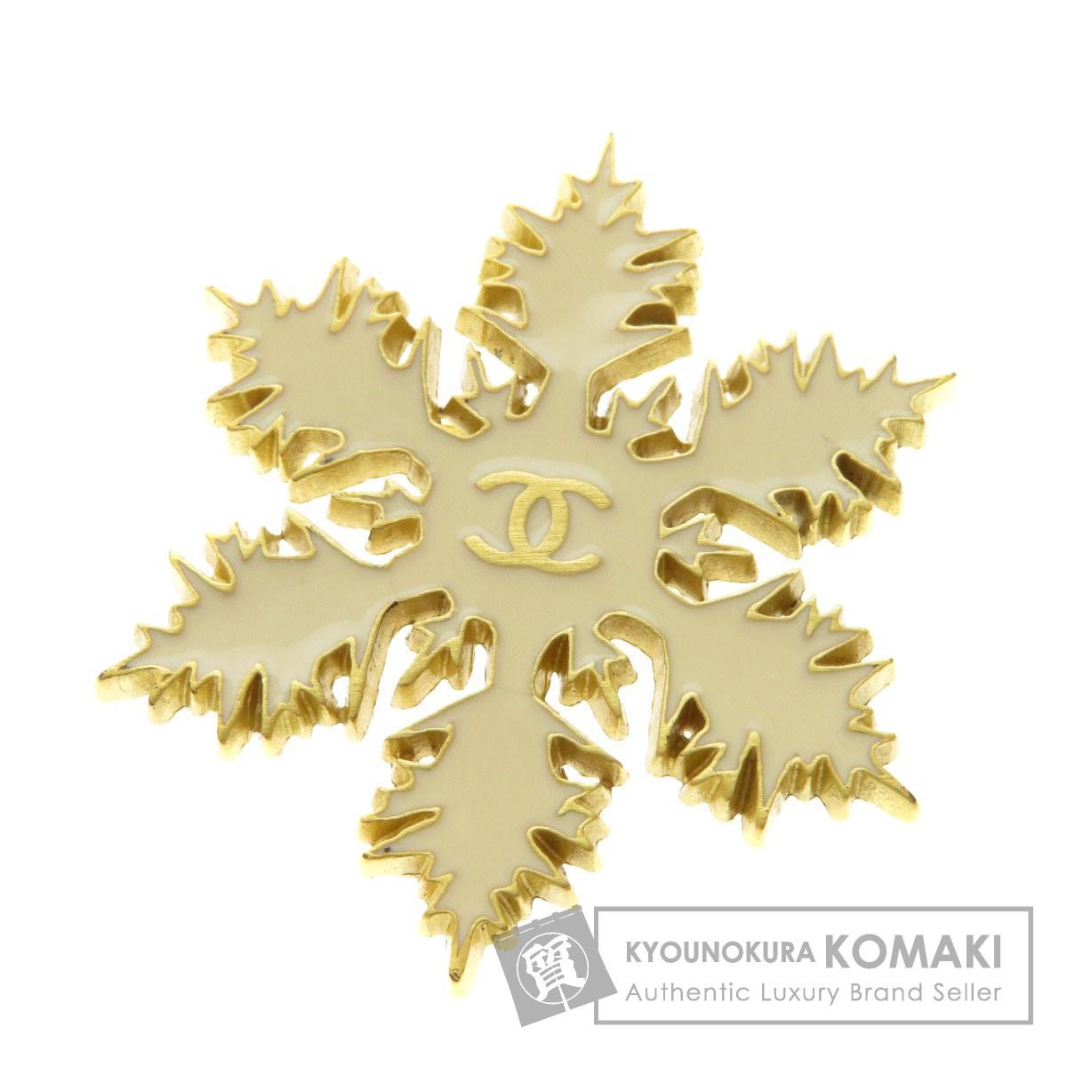 CHANEL ココマーク 雪の結晶 ブローチ 金属製 レディース 【中古】【シャネル】